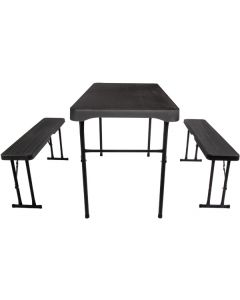 Quest Jet Stream Grassmoor Table and Bench Set