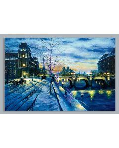 Fibre Optic Winter Bridge Scene - 60cm x 40cm