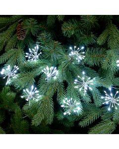 Festive 200 LED Twinkling Starburst Christmas Lights - White