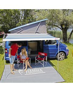 Fiamma F45S 260 Awning - VW T5/T6 California Left Hand Drive - White Case