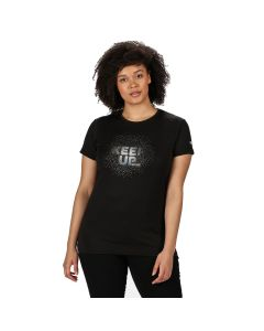 Regatta Fingal Women's V Graphic T-Shirt - Black