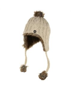 Regatta Women's Floy Fur Lined Chullo Hat - Vanilla