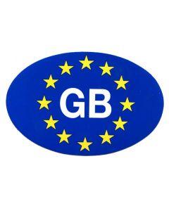 G.B. Euro Sticker - Self Adhesive 17cm