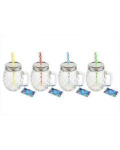Bello Pineapple Mason Glass Jar - 450ml