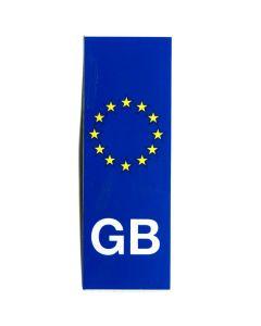 GB Euro Vertical Car Numberplate Sticker