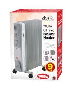 Elpine 2000w Oil Filled Radiator Heater