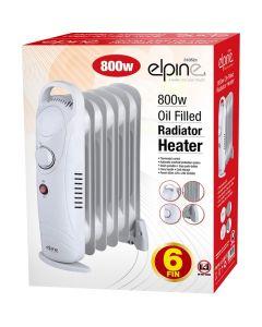 Elpine 800w Oil Filled Radiator Heater