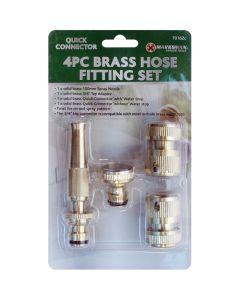 Marksman Brass Hose Fitting Set (4pc)
