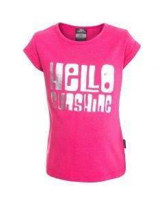 Trespass Girls' Hello Sunshine T-Shirt - Pink Lady