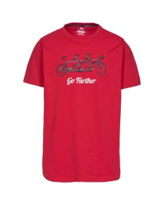 Trespass Hanks II Men's Casual Printed T-shirt - Red