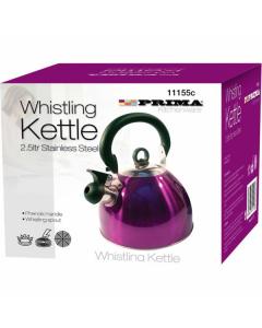 Prima Whistling Kettle 2.5L - Purple