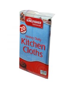 Kingfisher Kitchen Cloths - Pack of 20