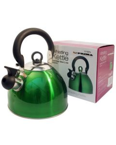 2.5 Litre Whistling Camping Kettle - Green