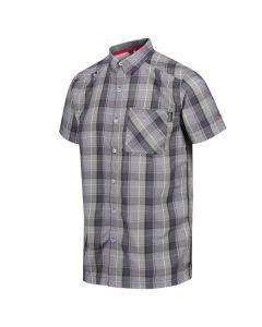 Regatta Men's Kalambo IV Short Sleeve Checked Shirt - Seal Grey