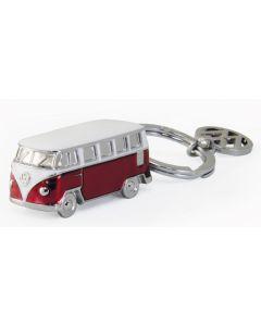 Volkswagen T1 Metal Keyring - Red