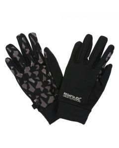 Regatta Kids' Grippy Gloves - Black Magnet Grey