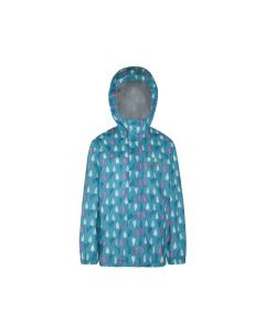 Regatta Kids Printed Pack-It Jacket - Aqua