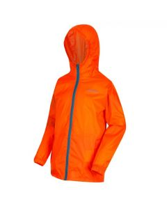 Regatta Kids' Pack It Jacket III Waterproof Packaway - Blaze Orange