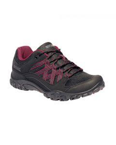 Regatta Edgepoint III Walking Women's Shoes - Black Beaujolais