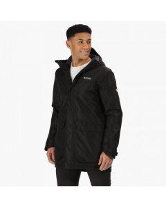 Regatta Men's Largo II Long Length Waterproof Insulated Jacket - Black