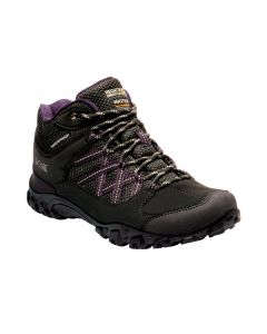 Regatta Women's Edgepoint Waterproof Mid Walking Boots - Black