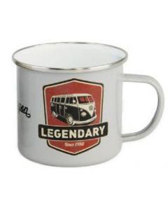VW Retro Enamel Mug (Legendary)