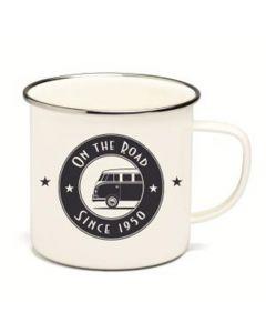 VW Retro Enamel Mug (On The Road)