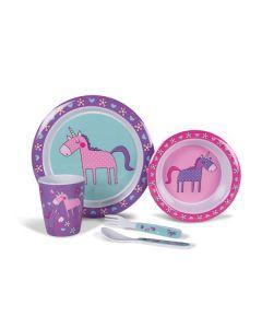 Kampa Unicorns Childrens Melamine Set