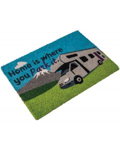 Motorhome Coir Mat - Home Is Where You Park It