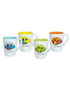 Love Caravanning Melamine Mugs - Set of 4