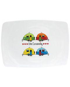 Love Caravanning Melamine Serving Platter - Break Resistant Camping Tableware
