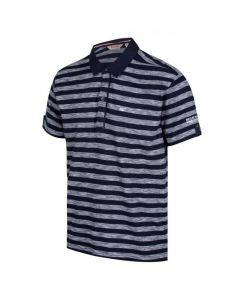 Regatta Men's Macaulay Jersey Polo Shirt - White Navy