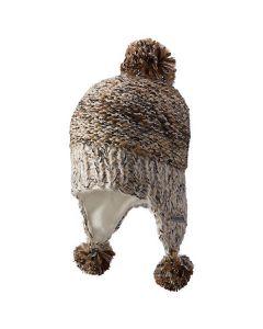 Screamer Michelle Hand-knit Ear-flap Hat - Latte