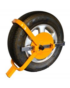 """Universal Wheel Clamp for Cars and Caravans - Fits 13"""" to 17"""" Wheels"""