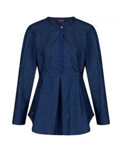 Regatta Women's Maladee Long Sleeve Belted Shirt - Chambray