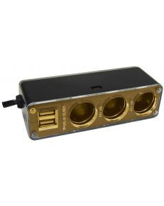 3 in 1 12v / 24v Power Socket with 2 USB Adaptors