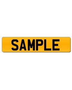 Standard UK Rear Number Plate