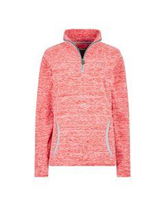 Weird Fish Nancy 1/4 Zip Fleece Sweatshirt - Radical Red