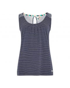 Weird Fish Nilly Striped Jersey Vest - Indigo