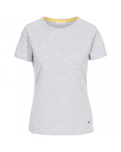 Trespass Ani Women's Printed T-Shirt - Grey Marl Dot