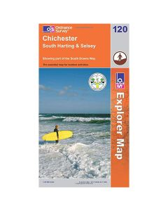 OS Explorer Map 120 - Chichester South Harting & Selsey
