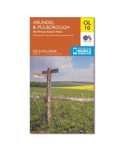 OS Explorer Map 121 - Arundel & Pulborough Worthing & Bognor Regis