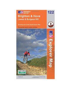 OS Explorer Map 122 - Brighton & Hove Lewes & Burgess Hill