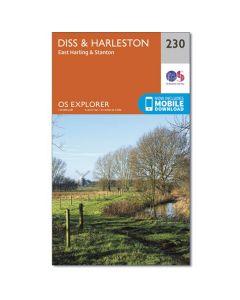 OS Explorer Map 230 - Diss & Harleston East Harling & Stanton