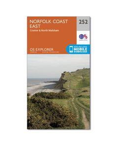 OS Explorer Map 252 - Norfolk Coast East Cromer & North Walsham