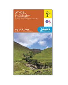 OS Explorer Map 394 - Atholl Glen Tilt Beinn Dearg & Carn nan Gabhar