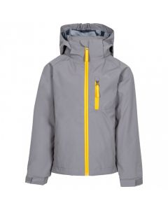 Trespass Overwhelm Kid's Waterproof Jacket - Storm Grey