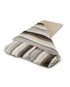 Duvalay Sleeping Bag Spare Cover - Coffee & Cream Stripe