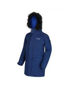 Regatta Kids' Perry Fur Trimmed Waterproof Insulated Jacket - Prussian Blue