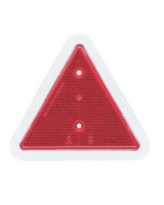 Trailer Rear Reflector Triangle - White Border
